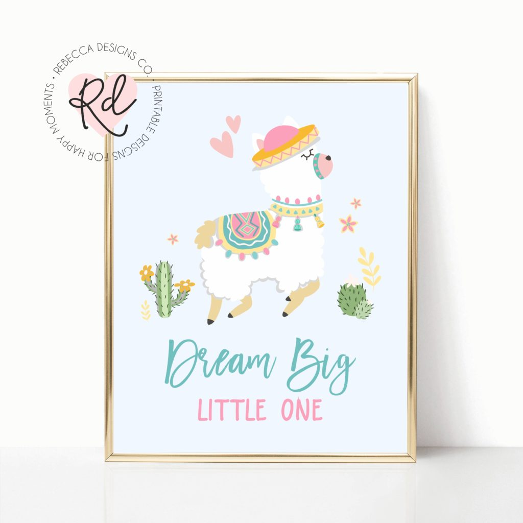 photograph about Free Printable Nursery Art identify No cost Llama Printable Nursery Artwork