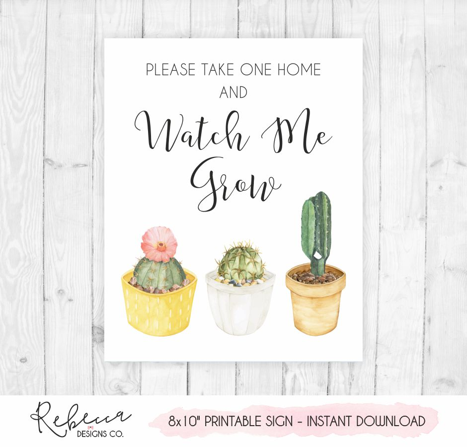 image about Cactus Printable called Keep an eye on me improve cactus printable indicator Instantaneous down load