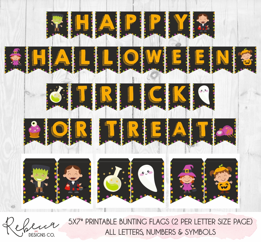 photograph regarding Halloween Banner Printable referred to as Halloween banner printable Fast down load