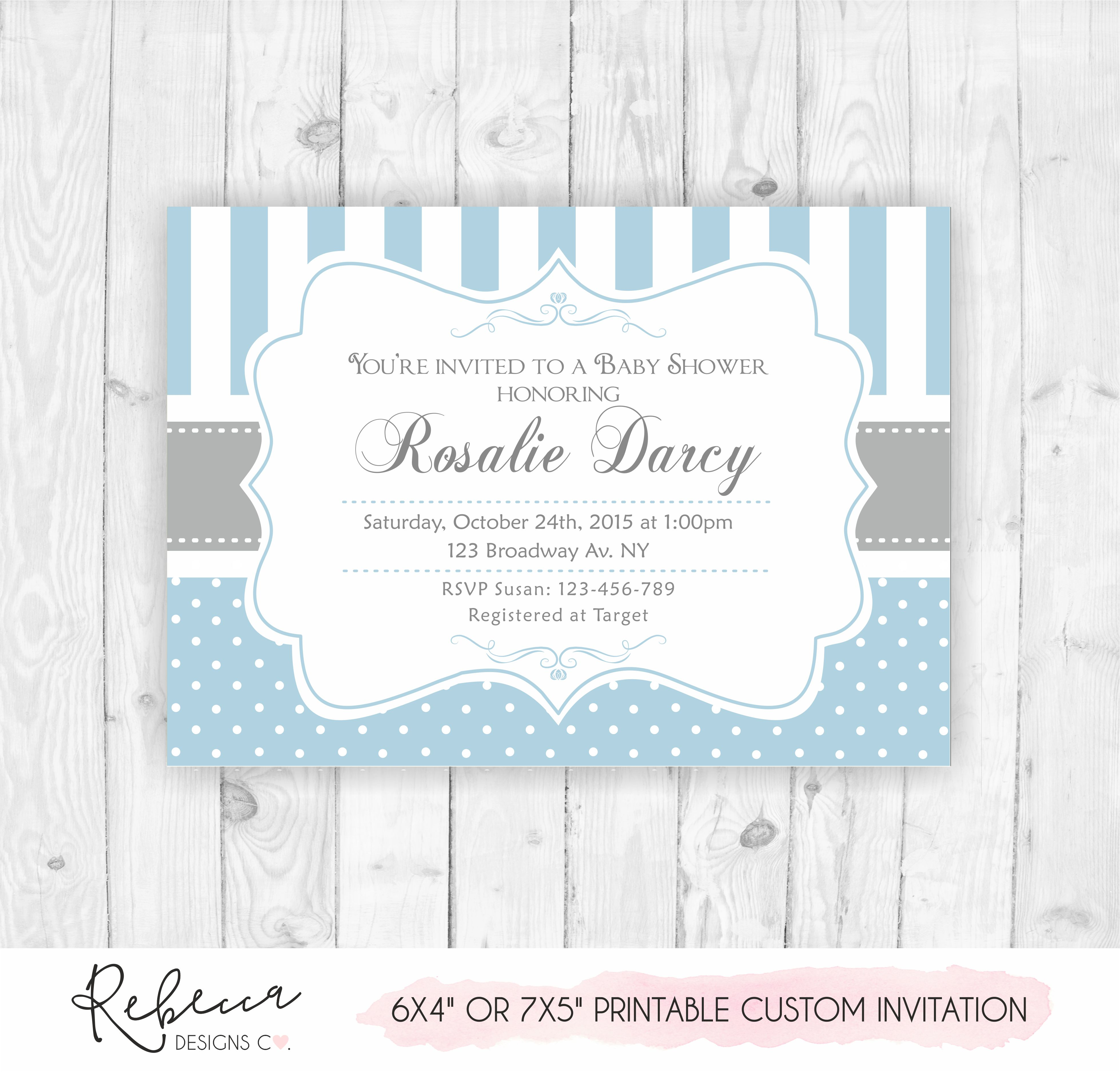 photograph regarding Baby Shower Invitation Printable identified as Boy child shower invitation Printable tailor made layout