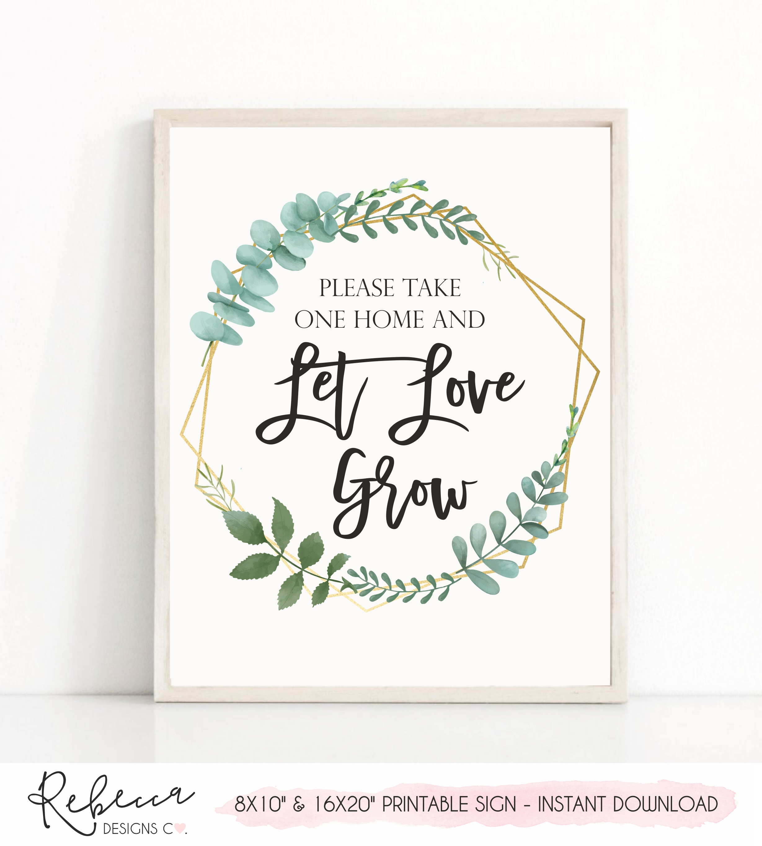 picture regarding Please Take One Sign Printable named Allow get pleasure from improve greenery printable poster Prompt obtain