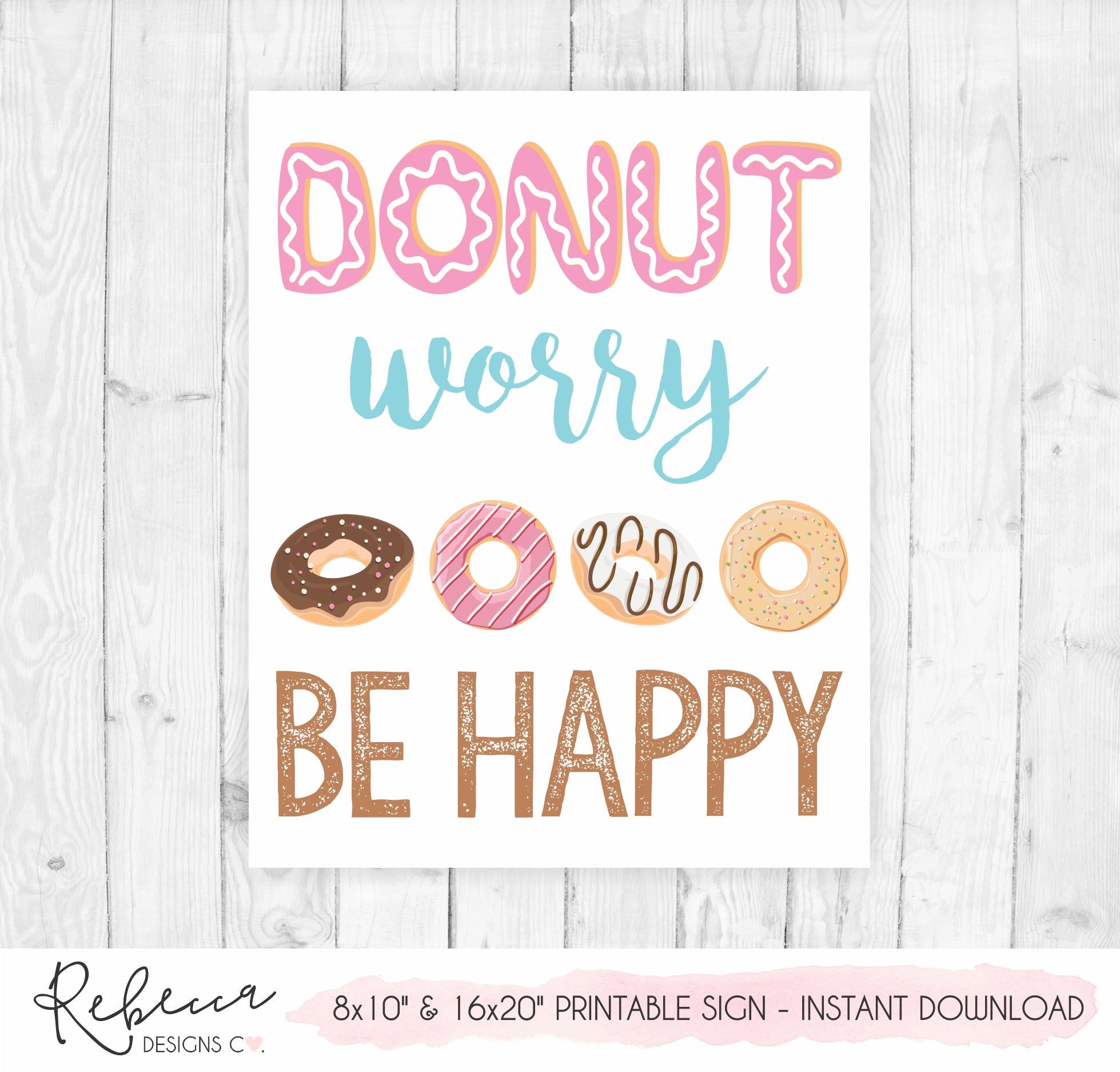 image about Happy Thanksgiving Signs Printable identify Donuts symptoms package Quick obtain