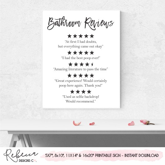 photo relating to Printable Poster named Toilet testimonials printable poster Fast down load